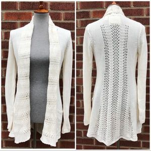 Anthropologie Angel of the North Knit Cardigan Sm